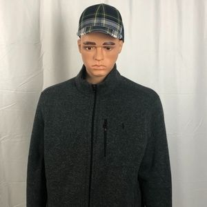 RALPH LAUREN GREY ZIPPED JACKET